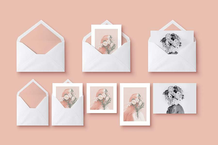 Mockup — Greeting Cards & Envelope