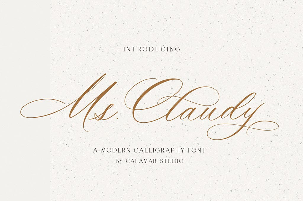 Ms Claudy – Wedding Calligraphy Font