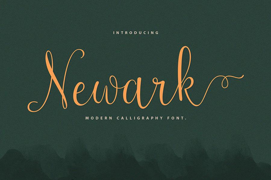 Newark Script Calligraphy