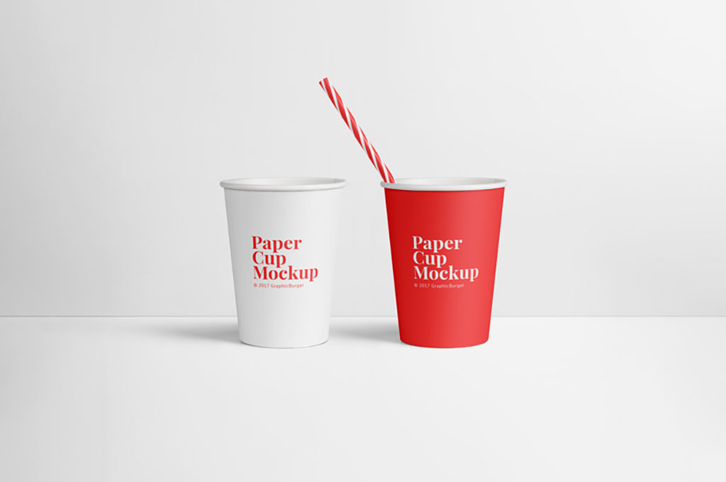 PSD Paper Cup Mockup