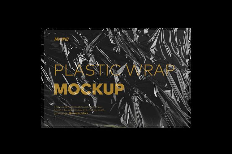 Plastic Wrap Texture Mockup