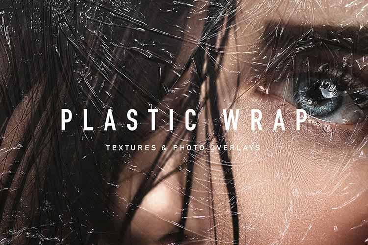Plastic Wrap Texture Photo Overlays