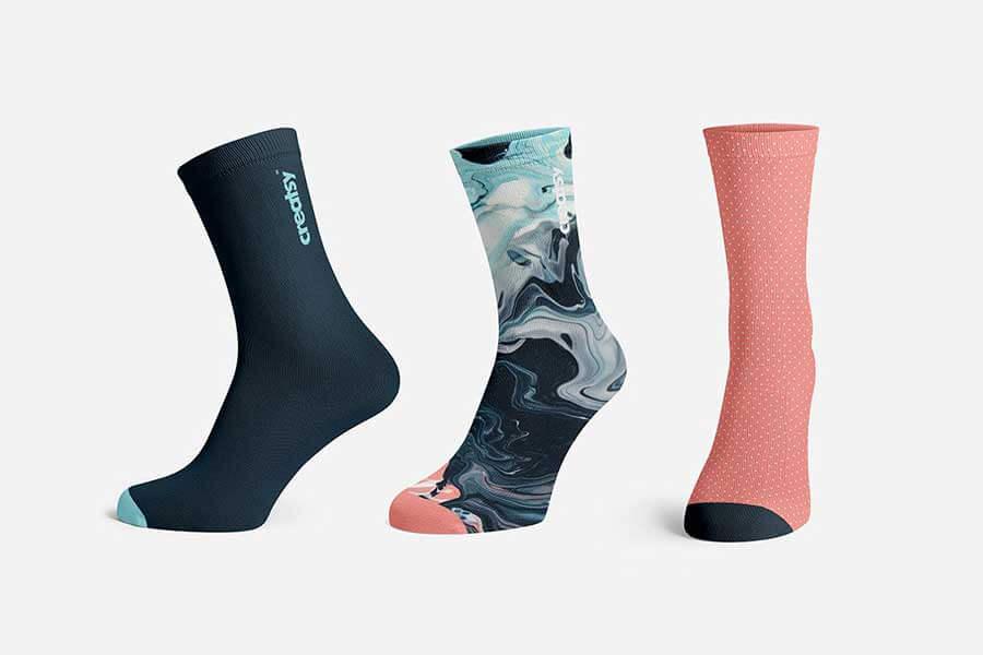 Realistic Socks Mockup Set