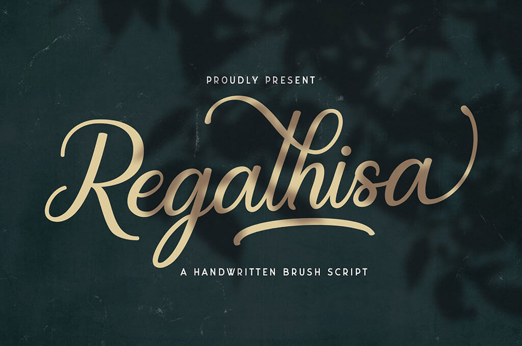 Regalhisa — Calligraphy Font