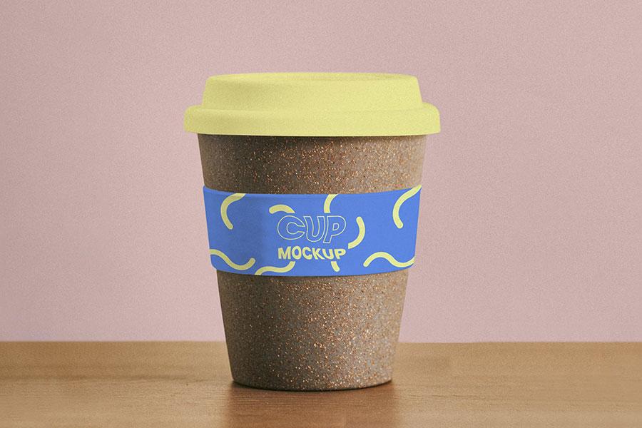 Reusable Cork Coffee Cup Mockup