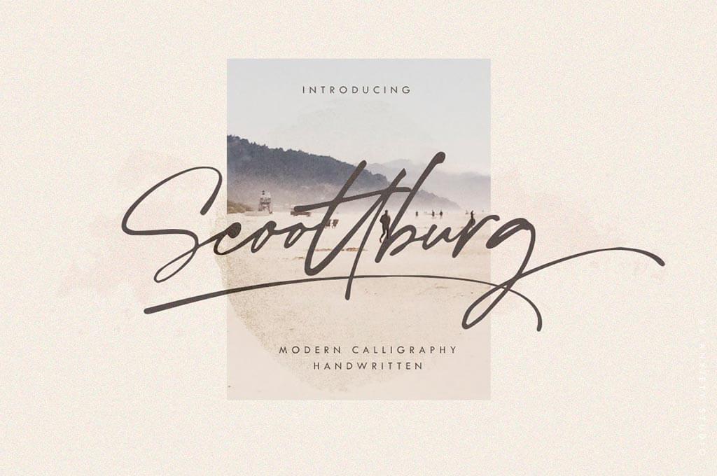 Scoottburg — Modern Calligraphy