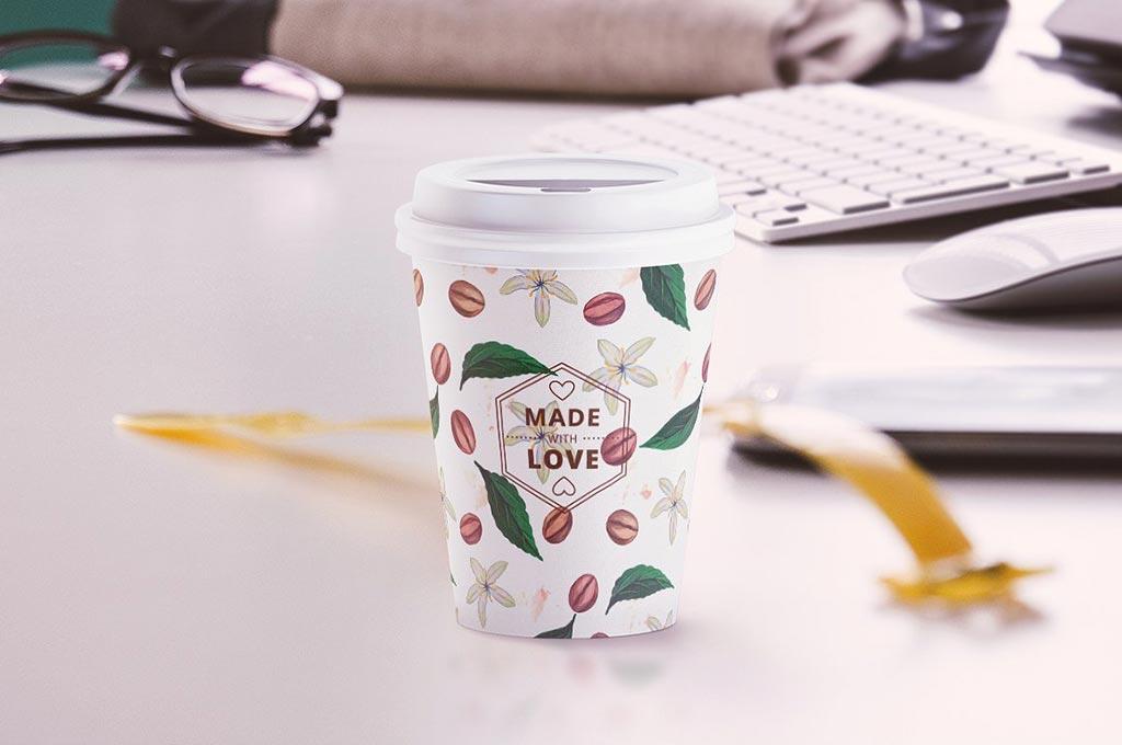 Small Coffee Cup Mockup: Animated