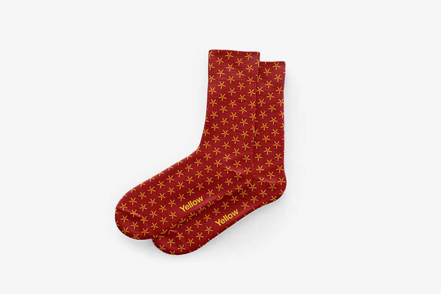 Socks Mockup — Top View