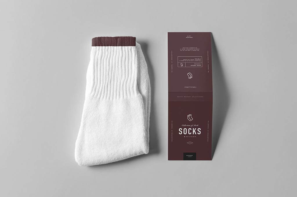 Socks Package Mockup