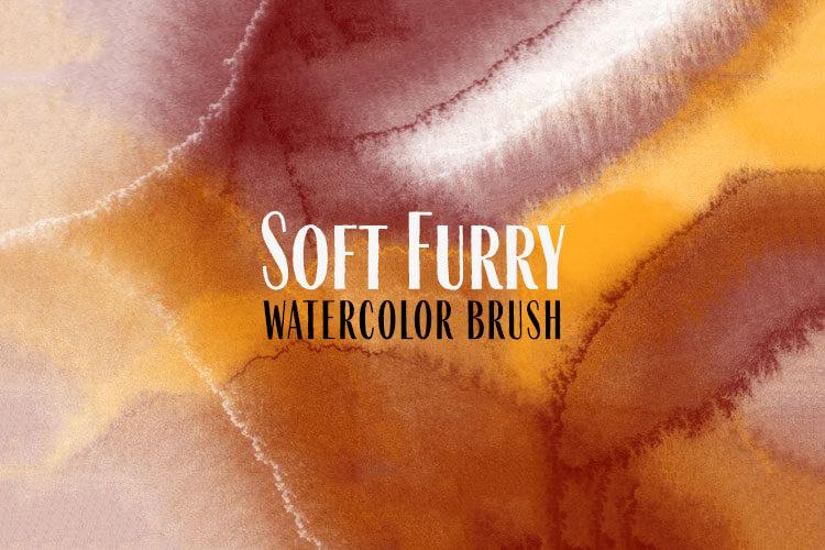 Soft Furry Watercolor Brush