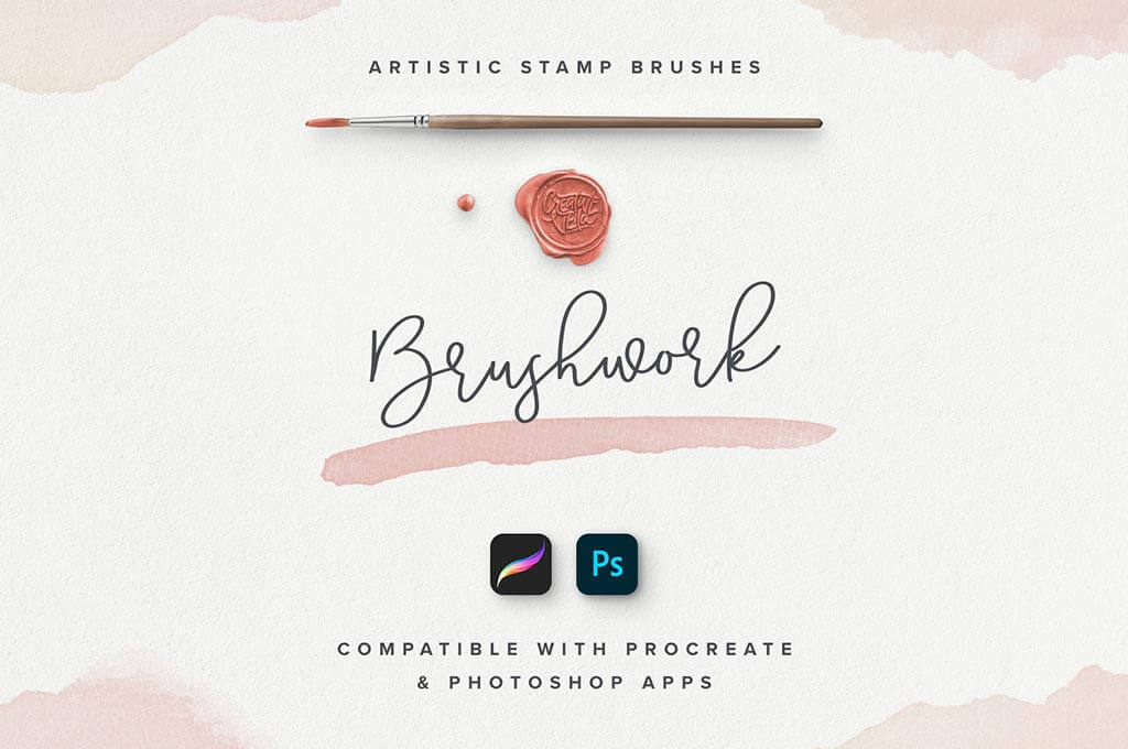 Stamp Procreate & Photoshop Watercolor Brushes
