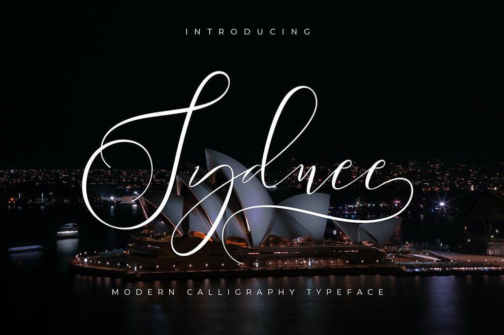 Sydnee Modern Calligraphy Font