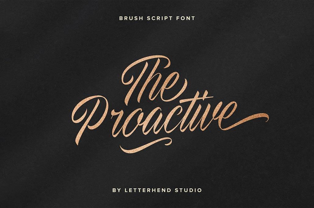 The Proactive Script Font