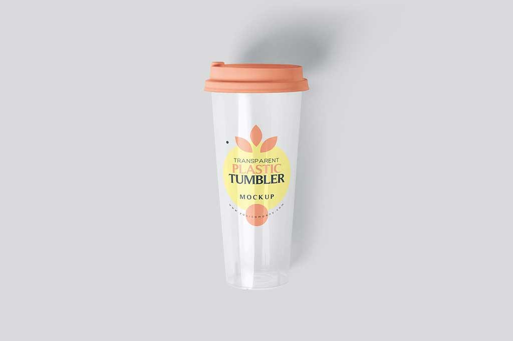 Tumbler Plastic Glass Mockups