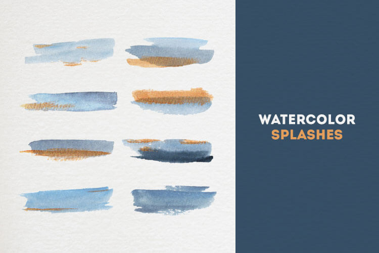 Watercolor Brush Splashes