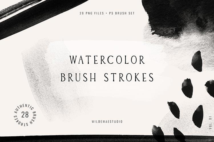 Watercolor Brush Strokes Vol. I