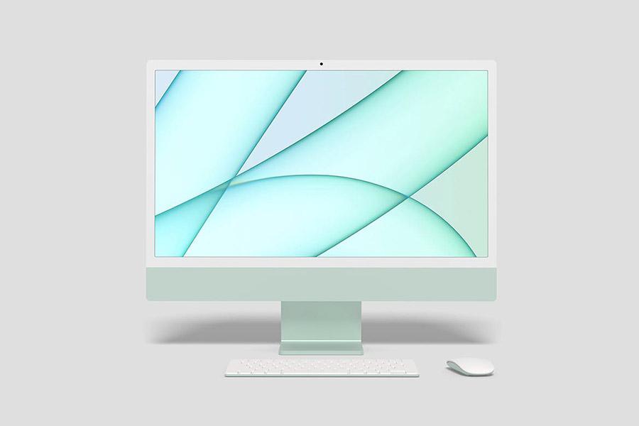 iMac 24 2021 Mockup