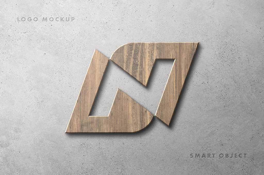 Wooden Logotype Mockup