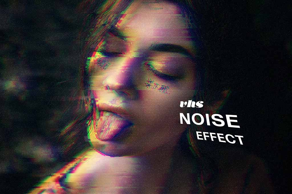 VHS Noise Photo Effect