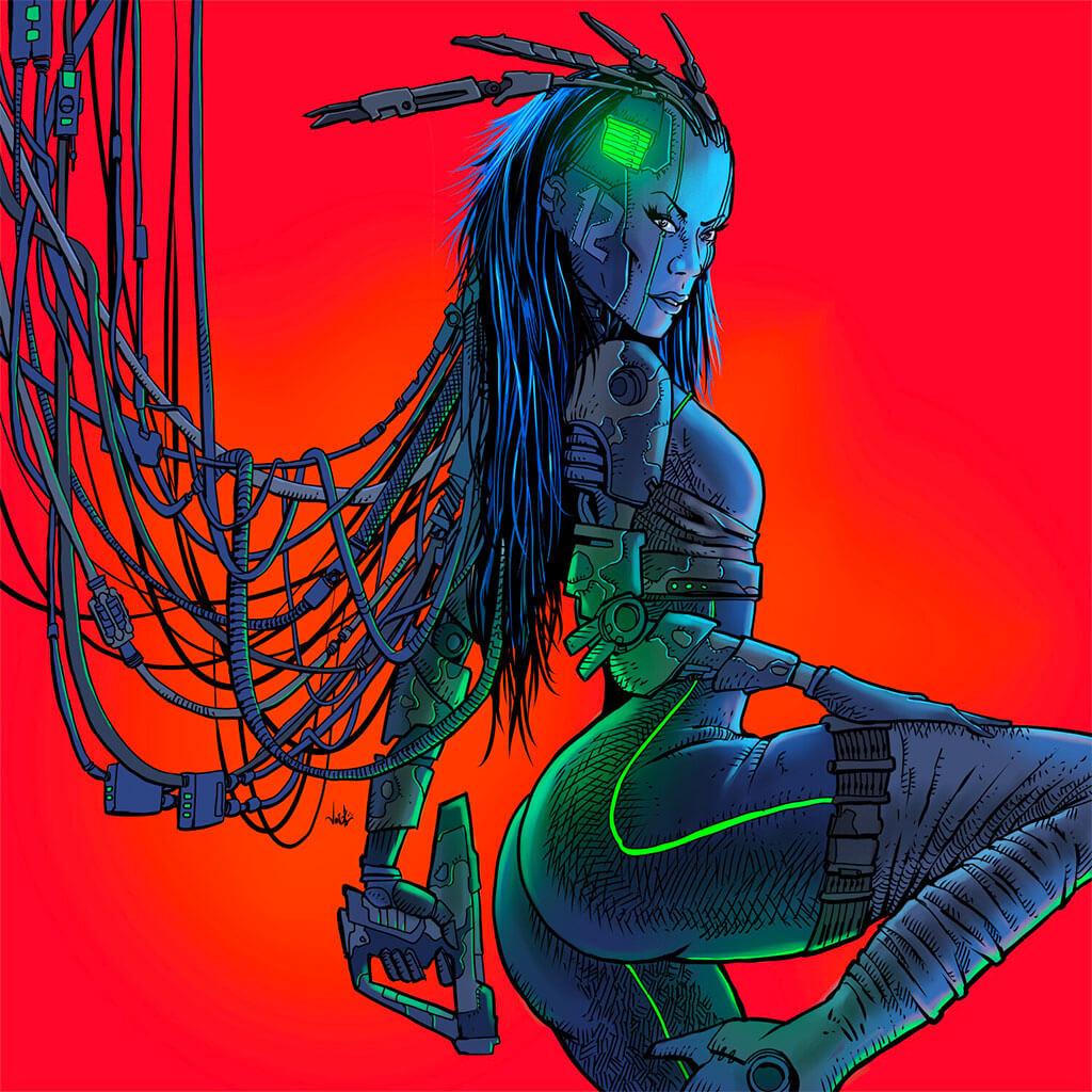 Cyberpunk 2077 Art by João Antunes Jr. Antunesketch