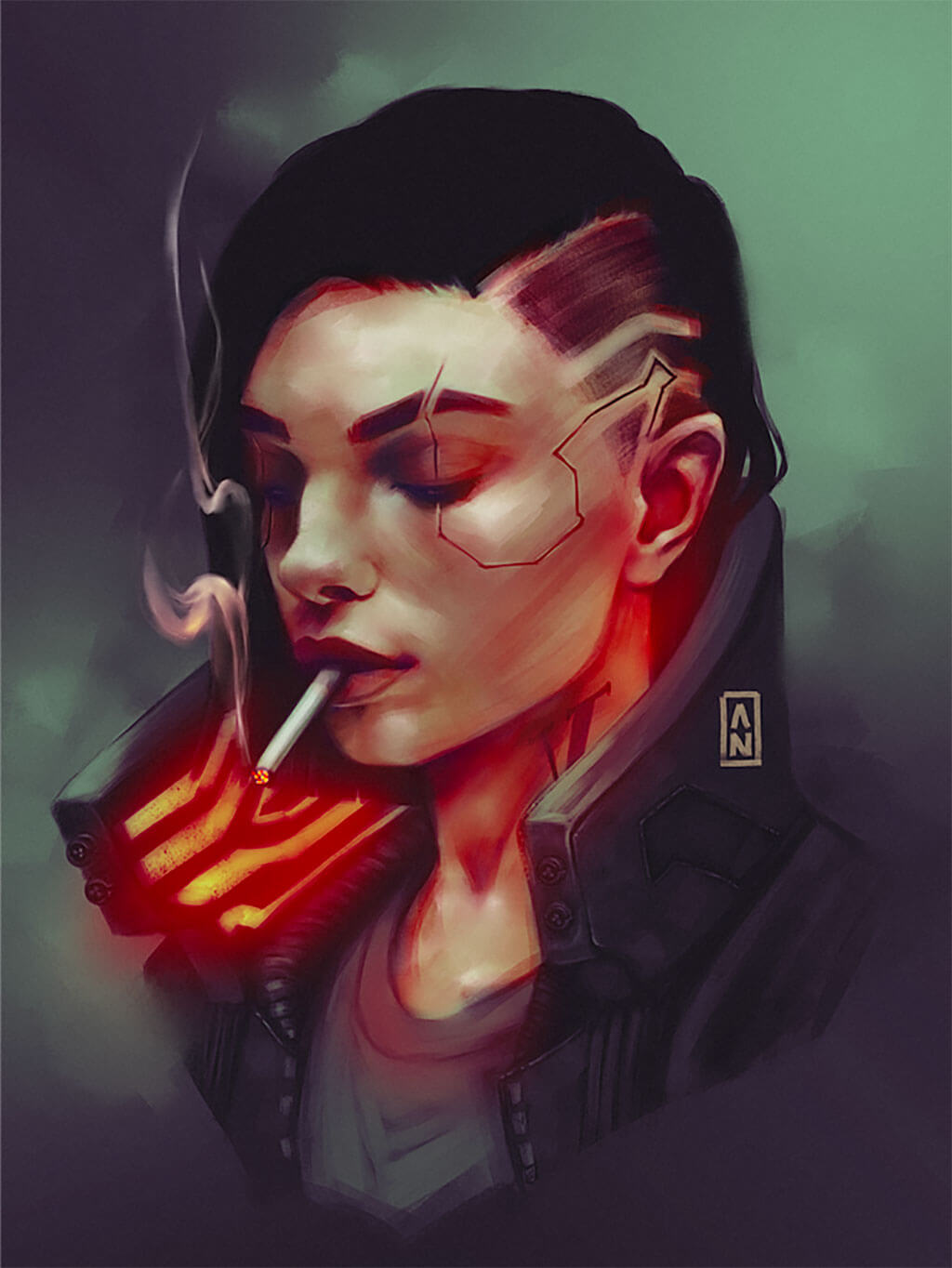 Cyberpunk 2077 Fan Art by Alexandra