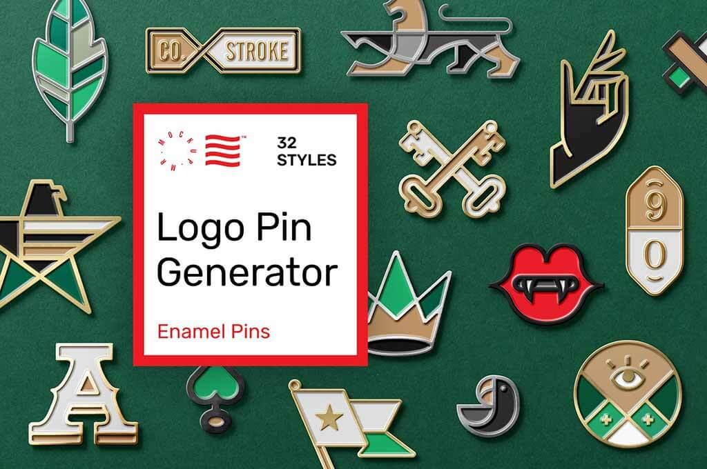 Enamel Pin Mockup Generator