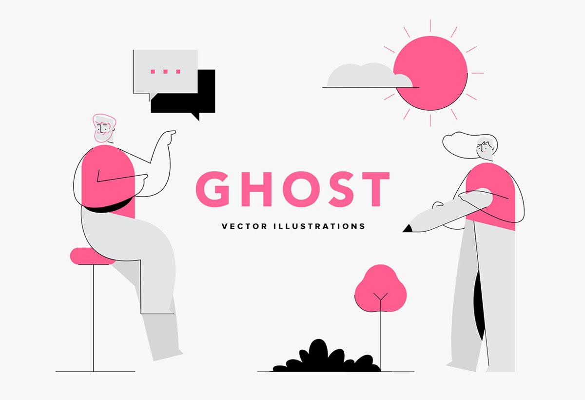 Ghost Vector Illustrations
