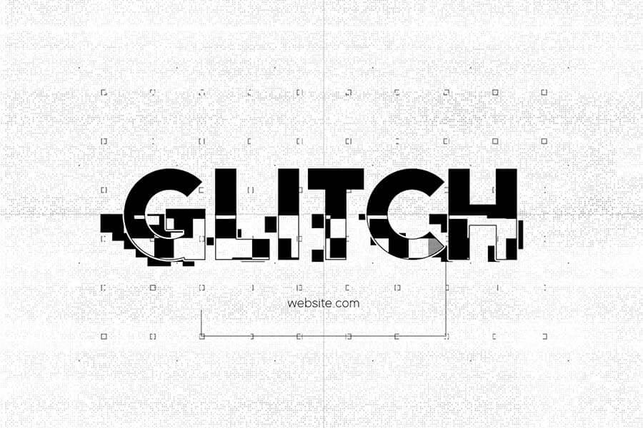 Glitch Logo Sting Template