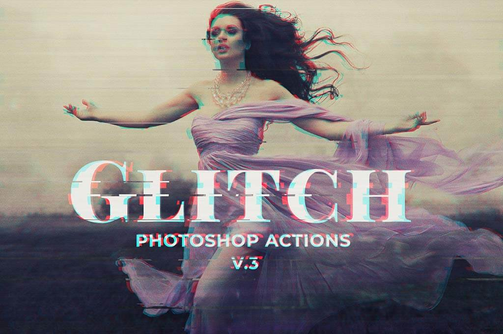 Glitch Photoshop PSD Template