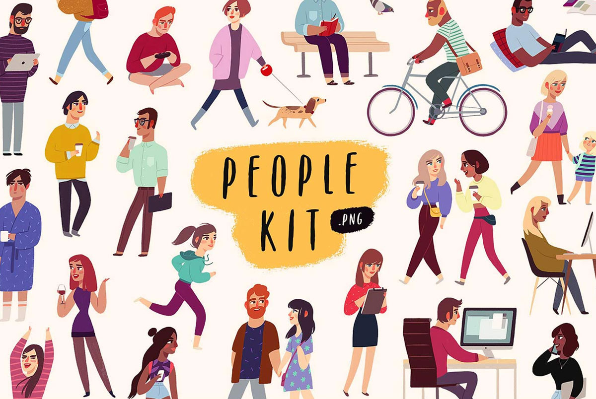 People Kit by Darumo Create Your Own Crew
