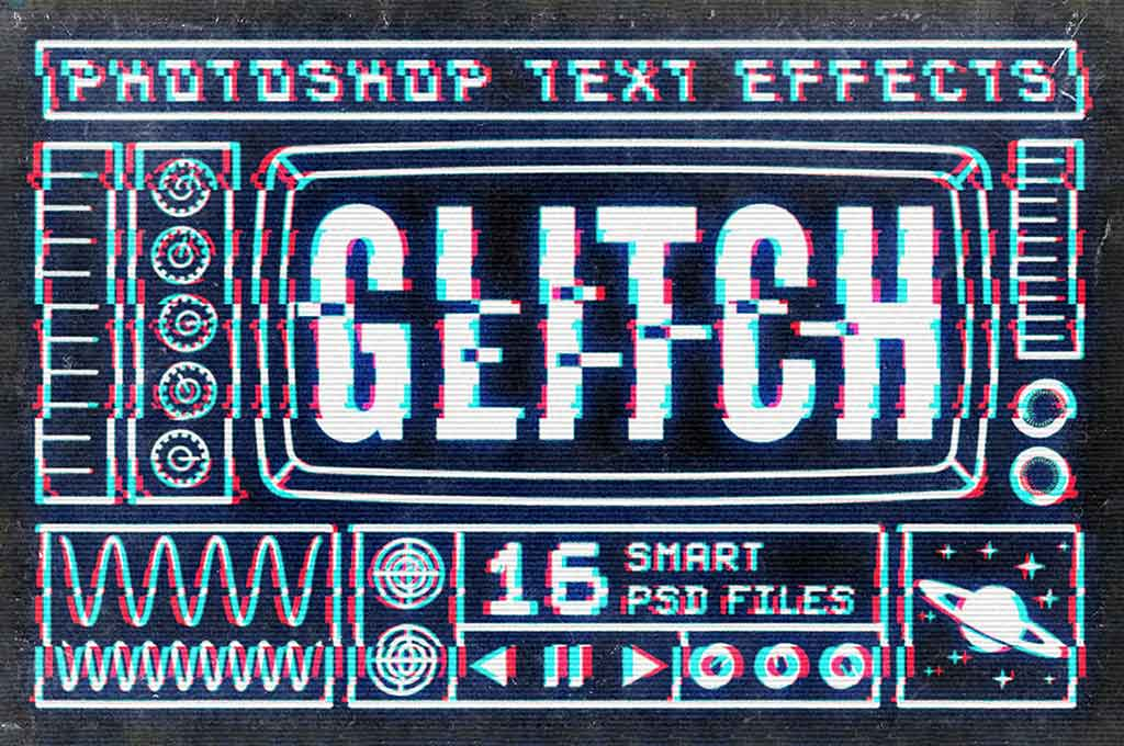 Photoshop Glitch Text Effect