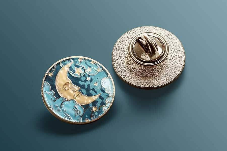 Round Enamel Pin Mockup Set