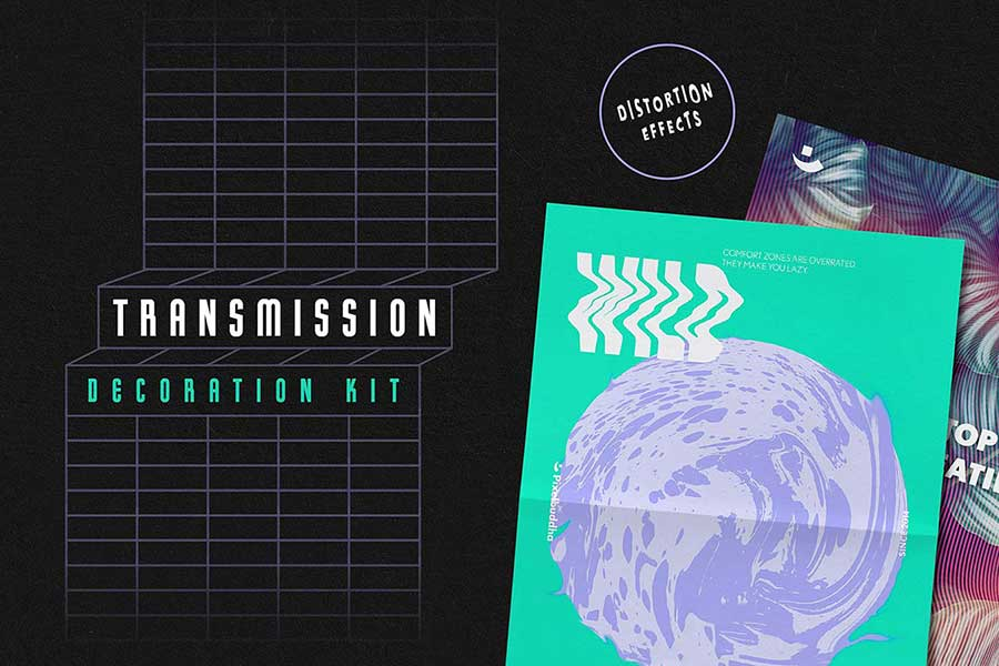 Transmission Warp — Glitch Text Effect