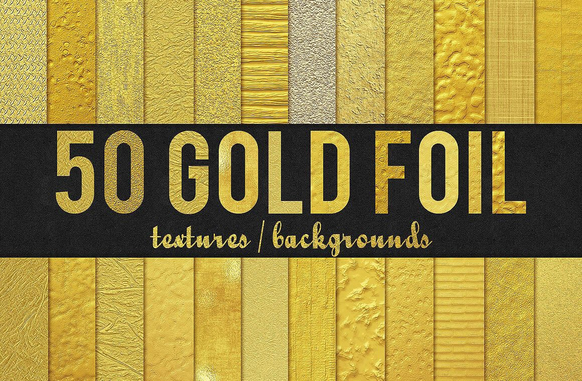 50 Gold Foil Textures