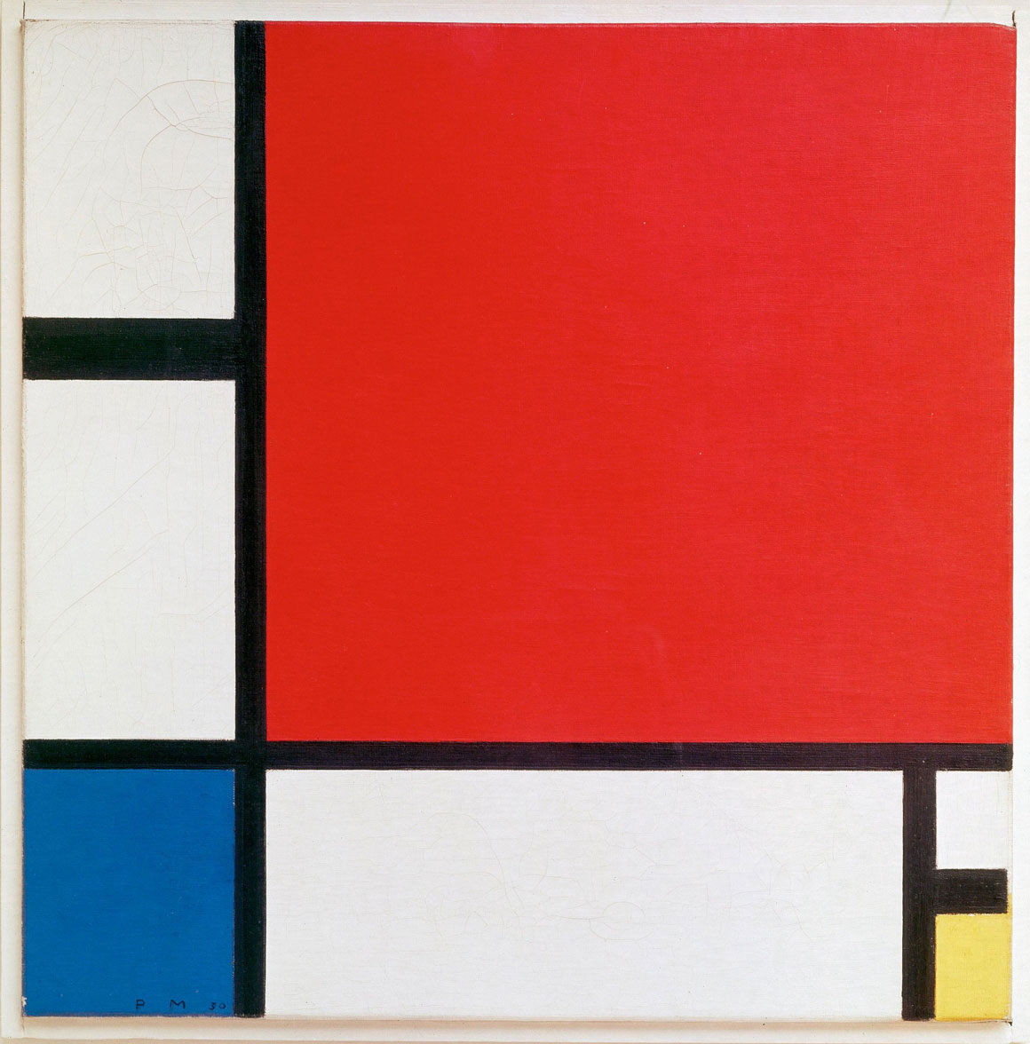 Composition II in Red, Blue, and Yellow by Piet Mondrian, 1929