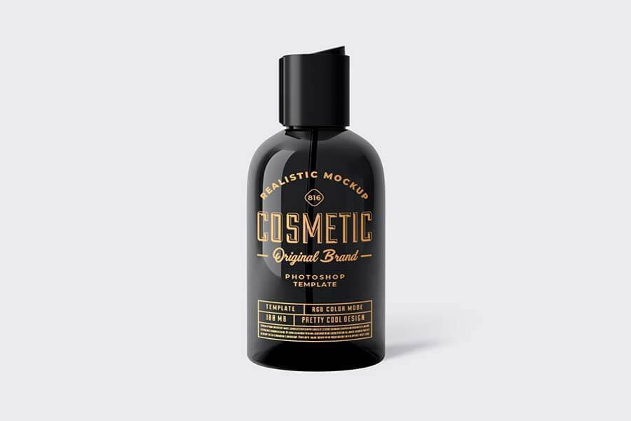Cosmetic Bottle Mockup Template