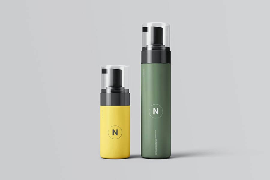 Cosmetic Bottles Packaging Mockup