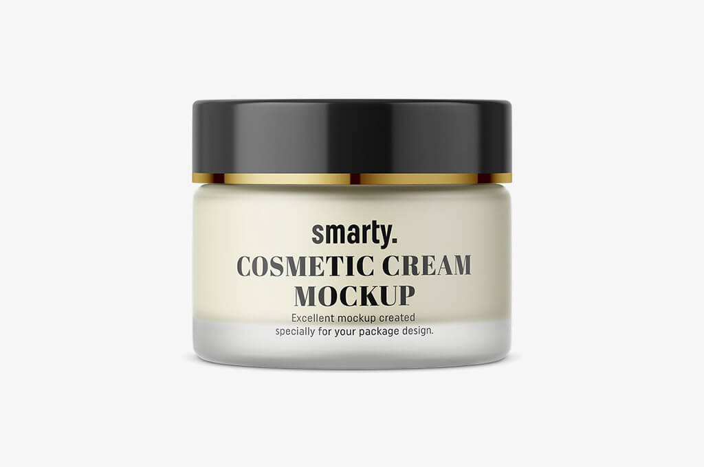 Cosmetic Cream Jar Mockup: Frosted