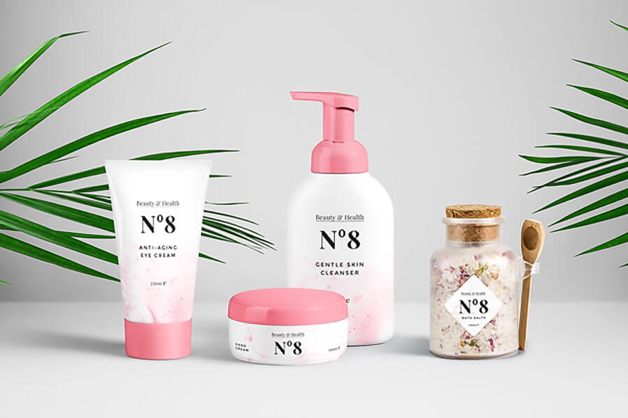 Cosmetics Packaging PSD Mockup
