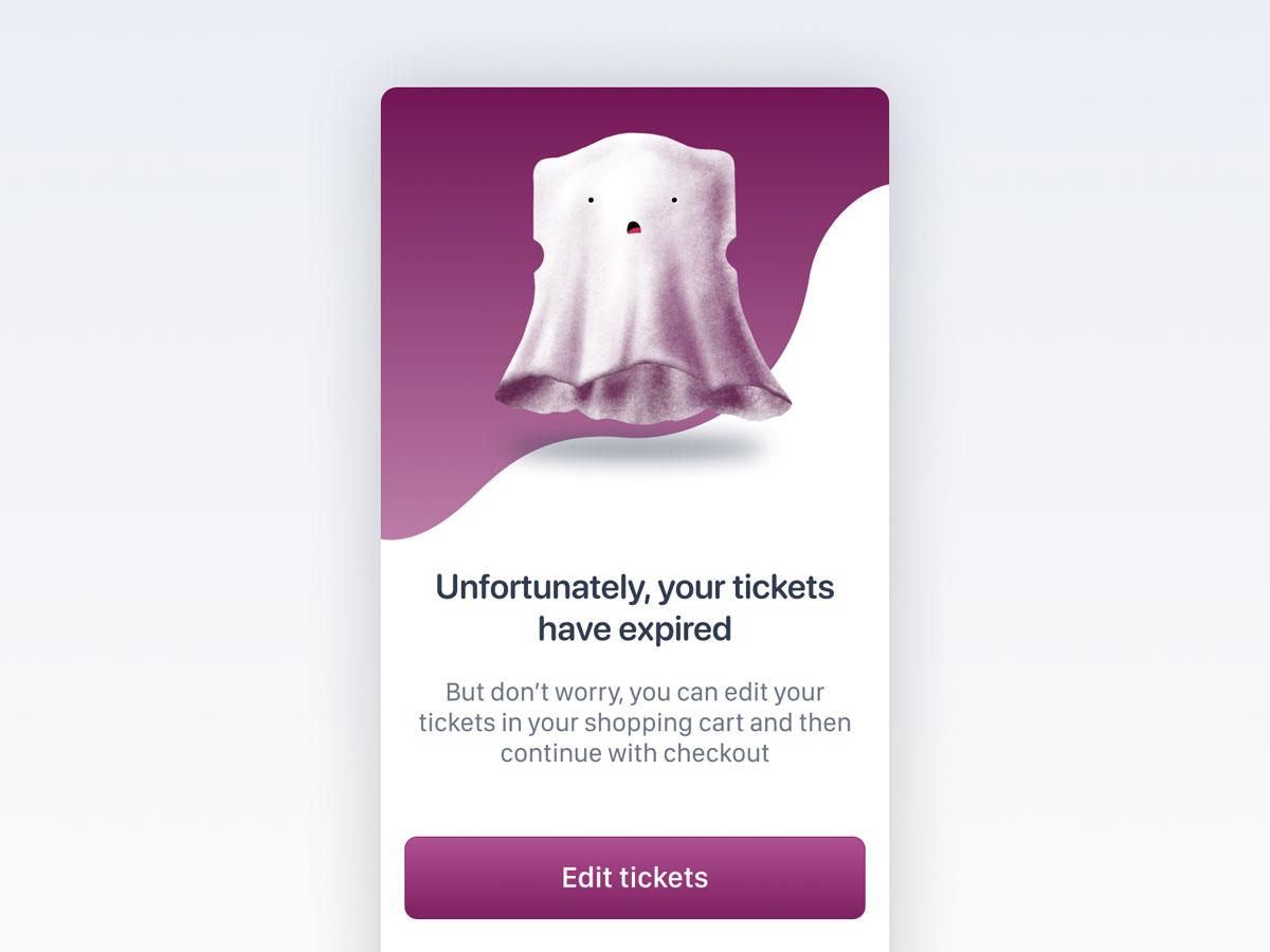 Expired tickets error screen by Yannis Abelas