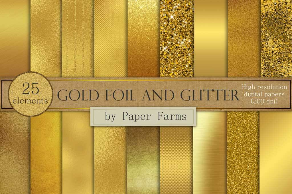 Gold Foil and Glitter