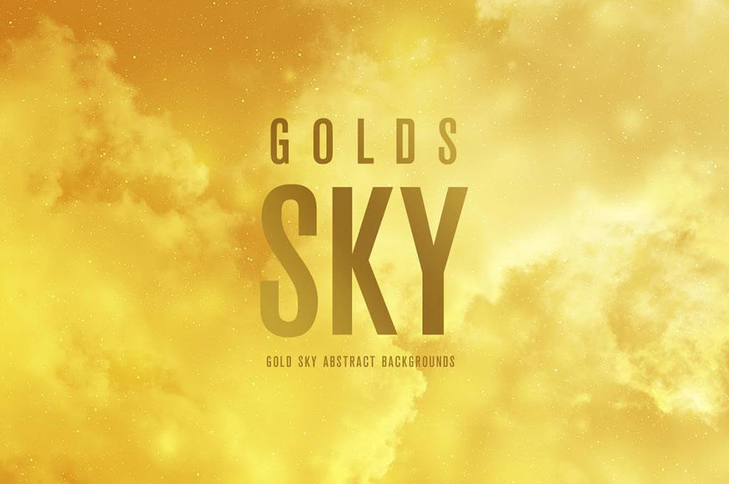Gold Sky: Abstract Backgrounds