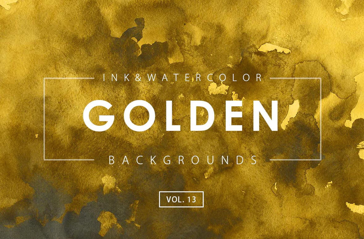 Golden Ink Backgrounds