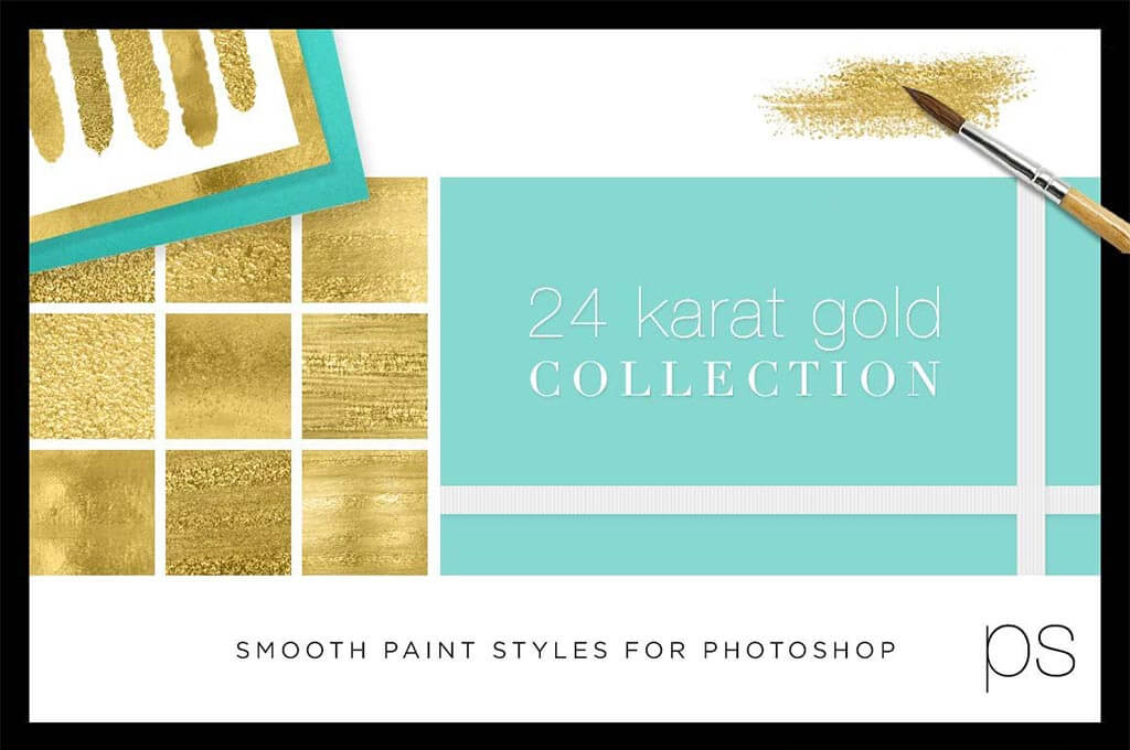 Liquid Gold Paint Texture Styles