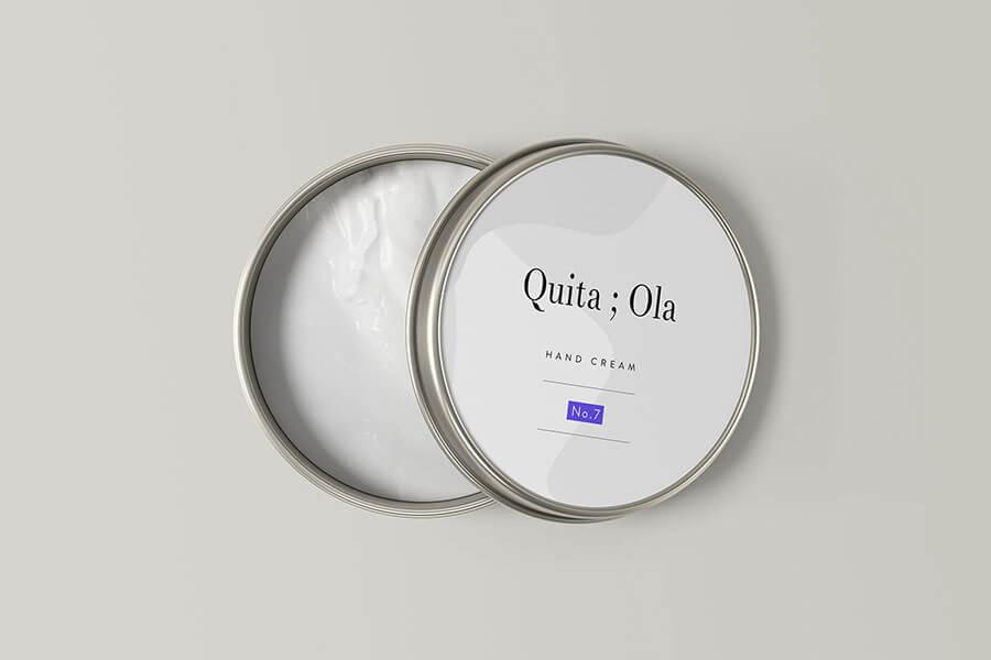 Metallic Cosmetic Cream Jar Mockup
