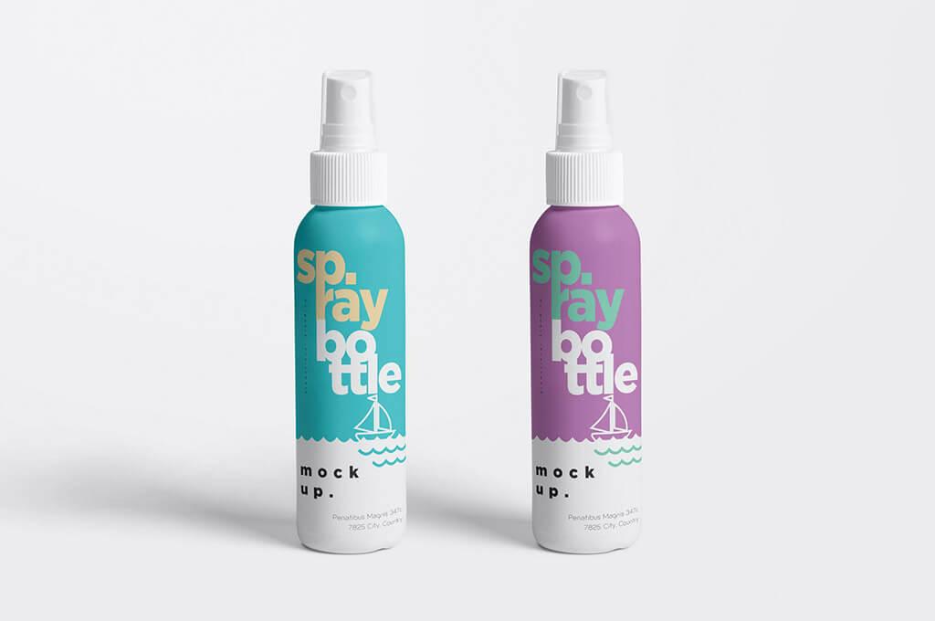 Plastic Spray Bottle Mockups