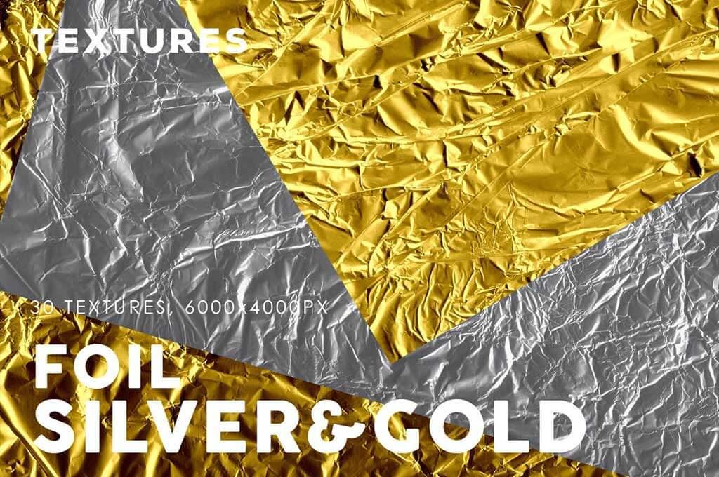Silver Gold Foil Textures