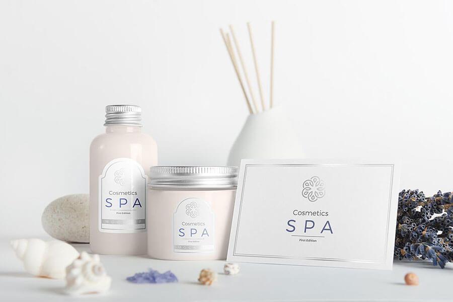 Spa Cosmetics Mockup