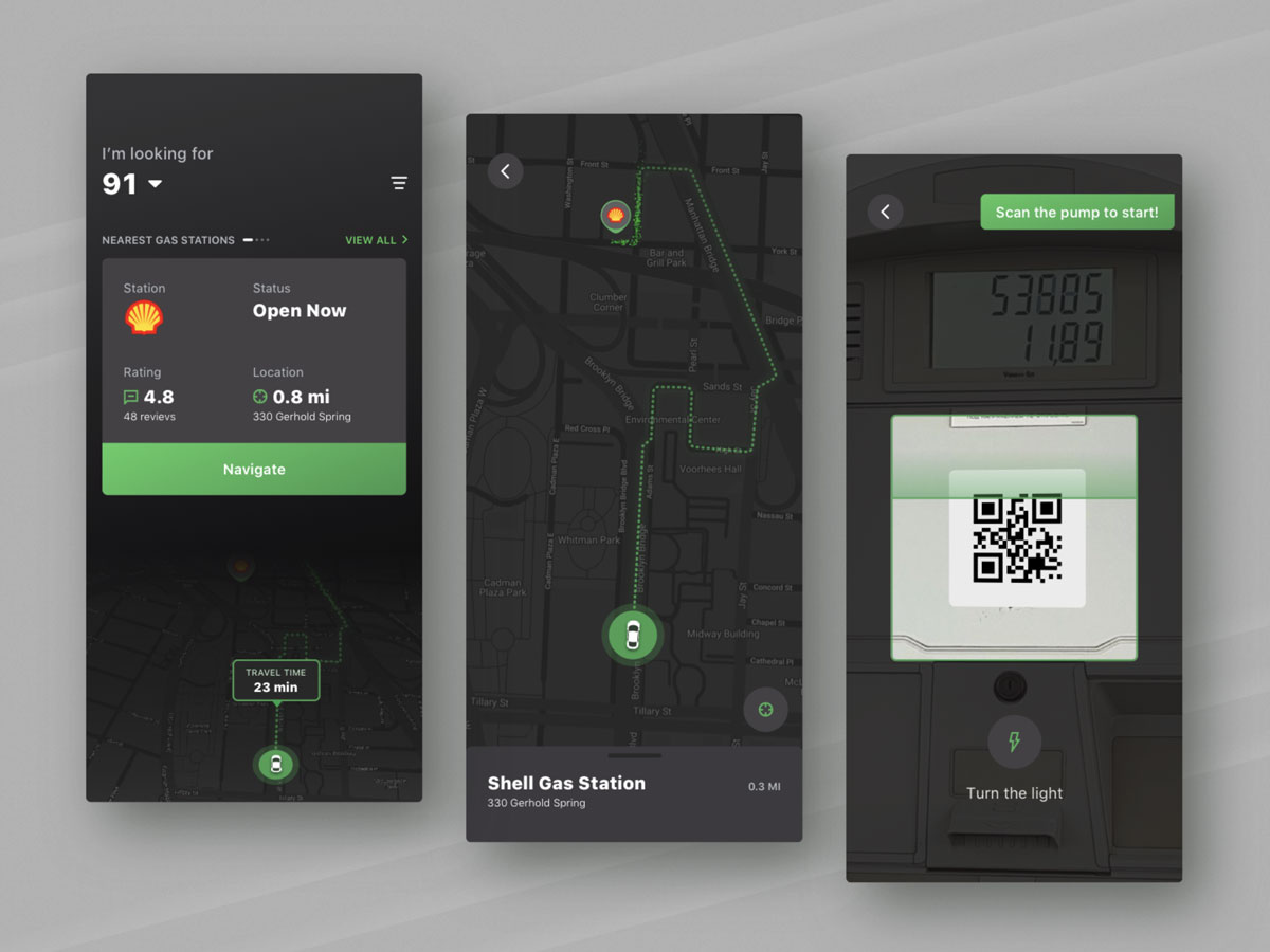 UI design for a mobile app by Fireart Studio