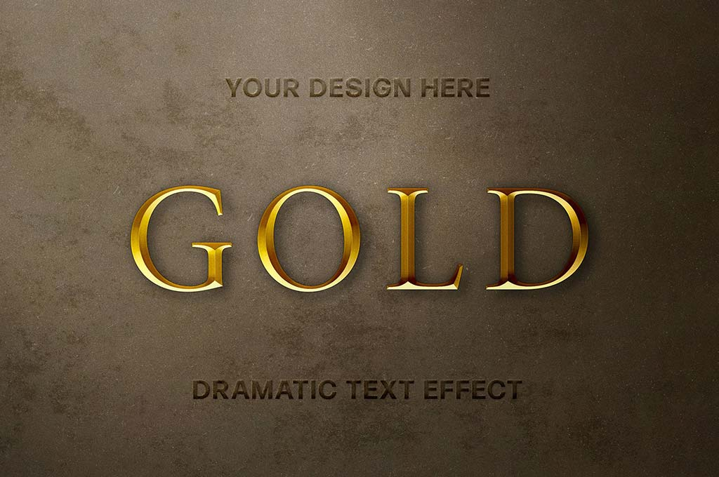 Medieval Gold Text Effect